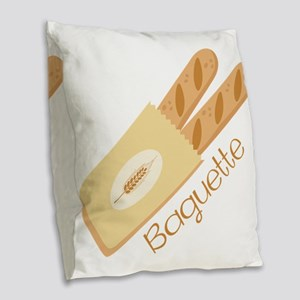 Baguette Burlap Throw Pillow