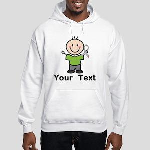 Diabetes Personalized Stick Boy Hooded Sweatshirt