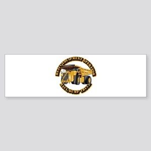 Heavy Equipment Operator - Dump T Sticker (Bumper)