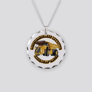 Heavy Equipment Operator - D Necklace Circle Charm