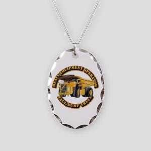 Heavy Equipment Operator - Dum Necklace Oval Charm