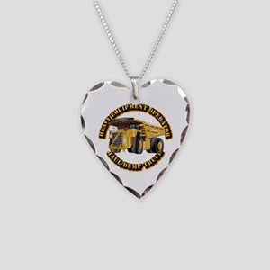 Heavy Equipment Operator - Du Necklace Heart Charm