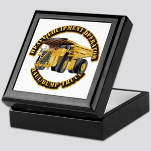 Heavy Equipment Operator - Dump Trk Keepsake Box