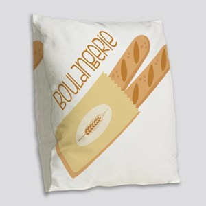 Boulangerie Burlap Throw Pillow
