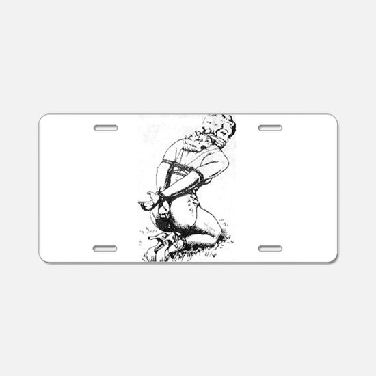 All Tied Up Aluminum License Plate