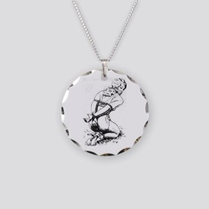 All Tied Up Necklace Circle Charm