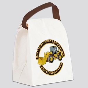 Hvy Equipment Operator - Front En Canvas Lunch Bag