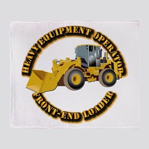 Hvy Equipment Operator - Front End L Throw Blanket