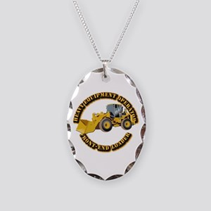 Hvy Equipment Operator - Front Necklace Oval Charm