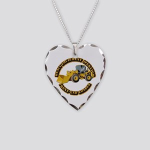Hvy Equipment Operator - Fron Necklace Heart Charm