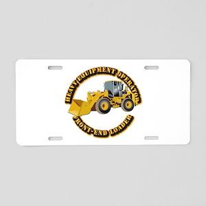Hvy Equipment Operator - Fr Aluminum License Plate