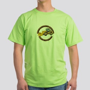 Hvy Equipment Operator - Front End L Green T-Shirt
