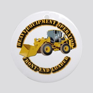 Hvy Equipment Operator - Front En Ornament (Round)