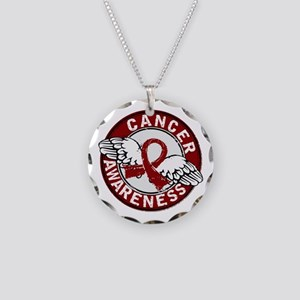 Multiple Myeloma Awareness 1 Necklace Circle Charm