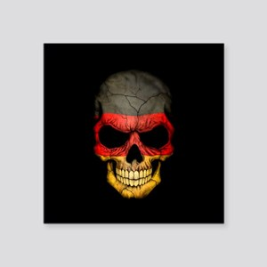 German Flag Skull on Black Sticker