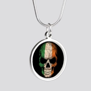 Irish Flag Skull on Black Necklaces