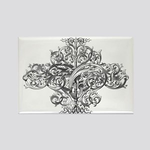 Baroque Tree of Life Rectangle Magnet