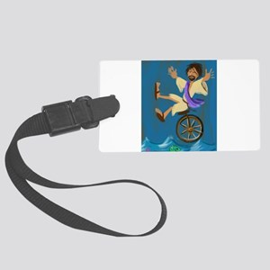 Jesus on a Unicycle Luggage Tag
