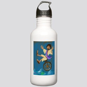 Jesus on a Unicycle Water Bottle