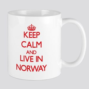 Keep Calm and live in Norway Mugs