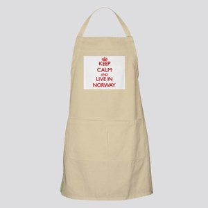 Keep Calm and live in Norway Apron