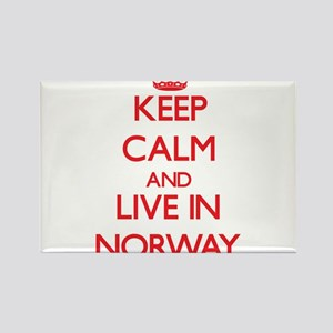 Keep Calm and live in Norway Magnets