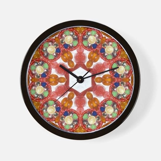 Unique Gemstones Wall Clock