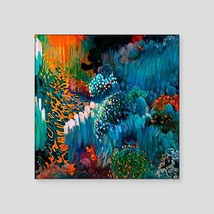 "Joaquin Mir Abstract Square Sticker 3"" x 3"""