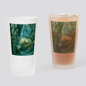 Joaquin Mir The Rock in the Pond Drinking Glass