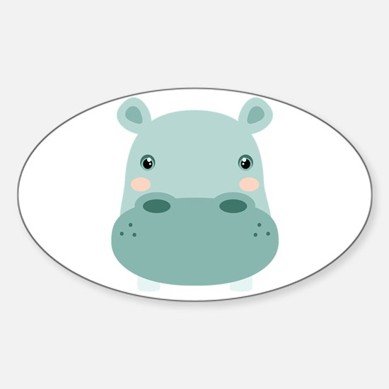 Cute Hippo Decal
