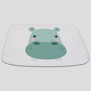 Cute Hippo Bathmat