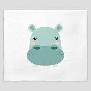 Cute Hippo King Duvet