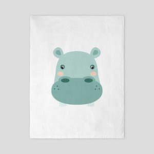 Cute Hippo Twin Duvet
