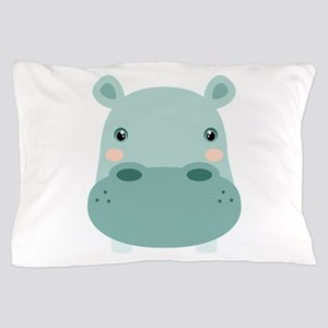 Cute Hippo Pillow Case