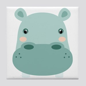 Cute Hippo Tile Coaster