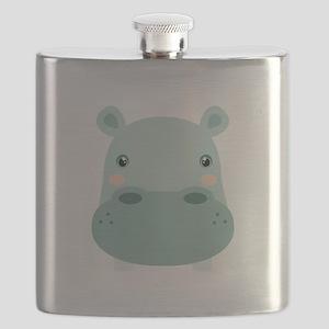 Cute Hippo Flask