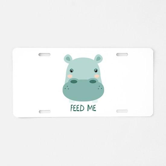 FEED ME Aluminum License Plate
