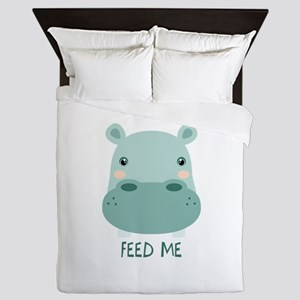 FEED ME Queen Duvet
