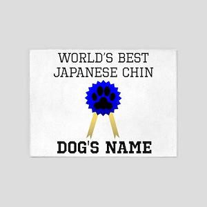 Worlds Best Japanese Chin (Custom) 5'x7'Area Rug