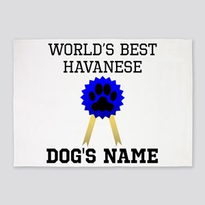 Worlds Best Havanese (Custom) 5'x7'Area Rug