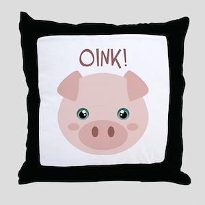 OINK! Throw Pillow