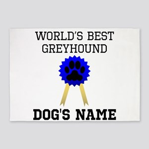 Worlds Best Greyhound (Custom) 5'x7'Area Rug
