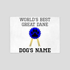 Worlds Best Great Dane (Custom) 5'x7'Area Rug