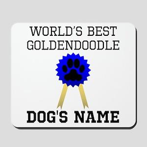 Worlds Best Goldendoodle (Custom) Mousepad