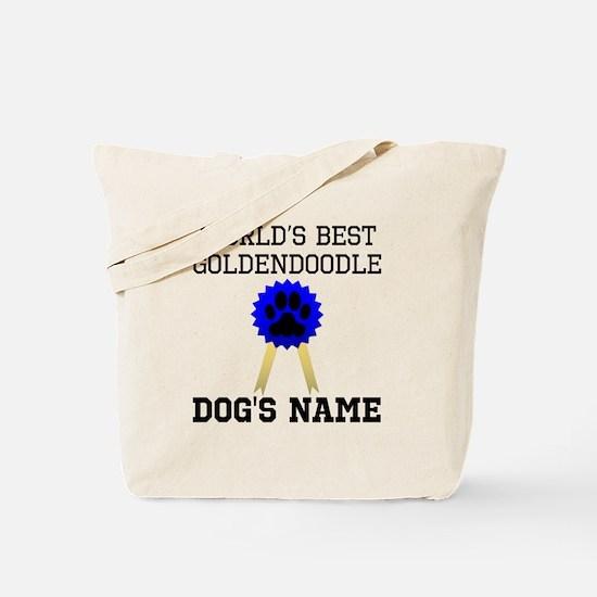 Worlds Best Goldendoodle (Custom) Tote Bag