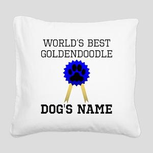 Worlds Best Goldendoodle (Custom) Square Canvas Pi