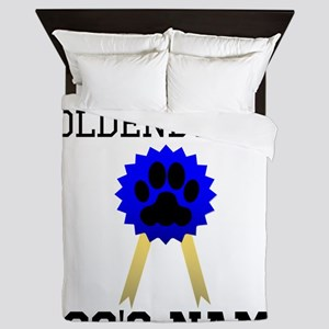 Worlds Best Goldendoodle (Custom) Queen Duvet