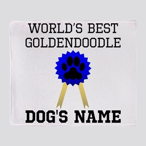 Worlds Best Goldendoodle (Custom) Throw Blanket