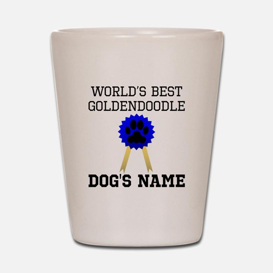 Worlds Best Goldendoodle (Custom) Shot Glass