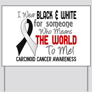 Carcinoid Cancer Means World 2 Yard Sign